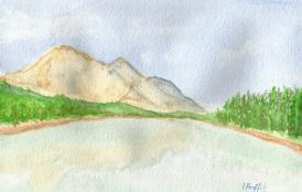 String Lake - Watercolours