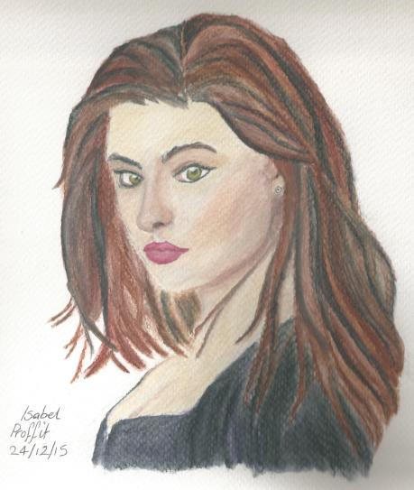 Inspired by Hayley from The Originals - Watercolour pencils