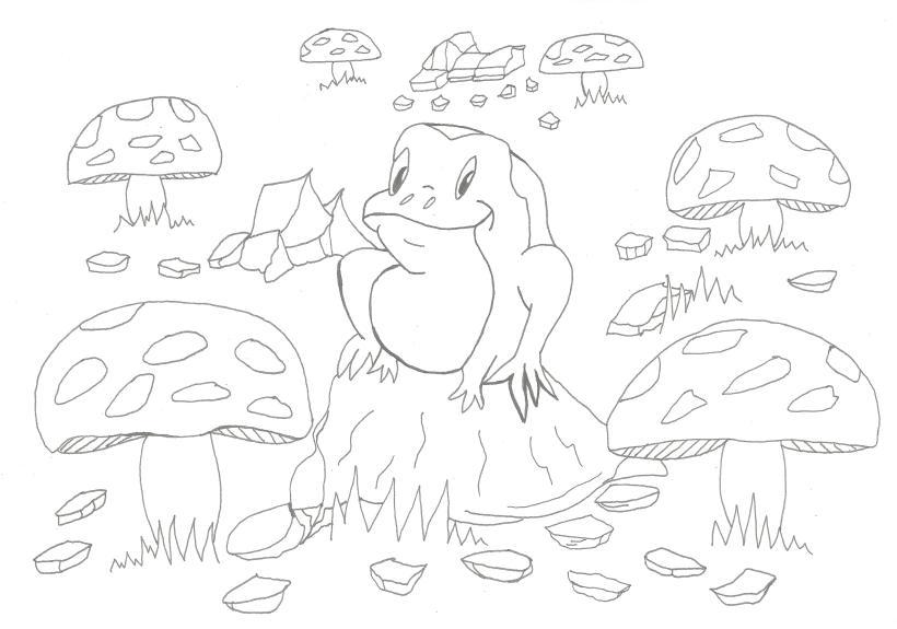 froggy line art better