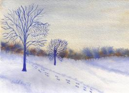 Watercolour landscape